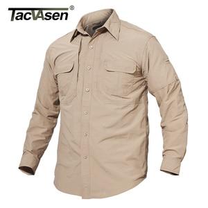Image 3 - TACVASEN Mens Brand Tactical Airsoft Clothing Quick Drying Military Army Shirt Lightweight Long Sleeve Shirt Men Combat Shirts