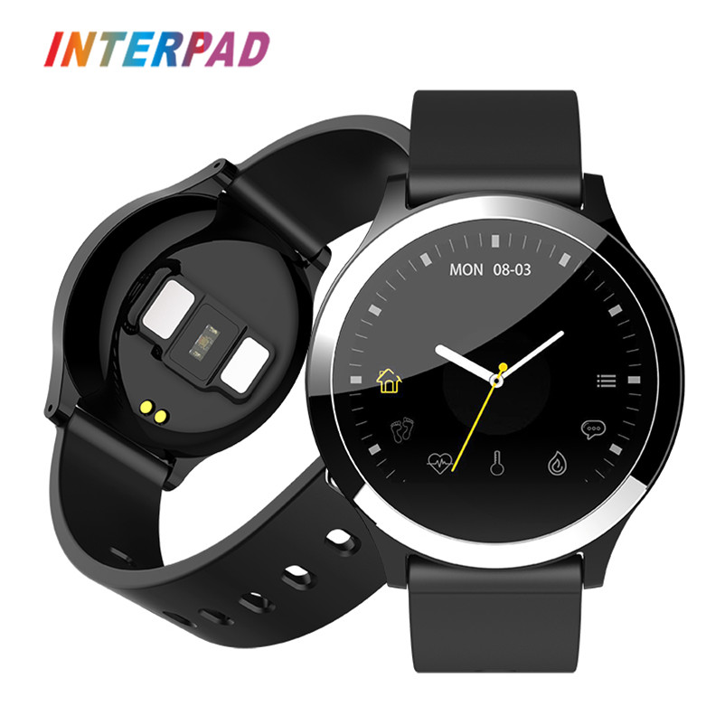 2019 Interpad New Android iOS Smart Watch ECG PPG Blood Pressure Heart Rate Moni