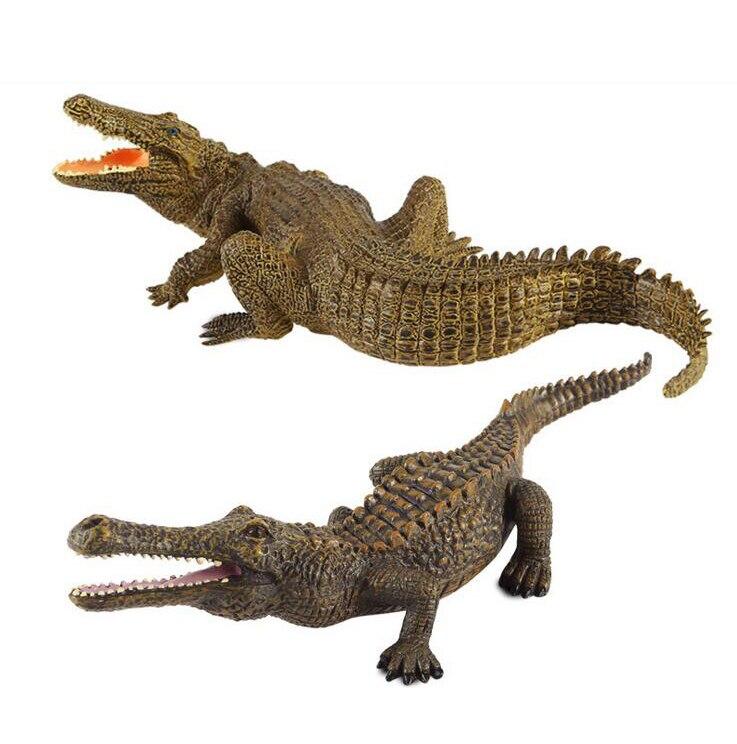 New 2017 1pcs Simulation Animals Crocodile Action Figures Model Kids font b Toy b font Learning