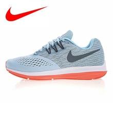 3fd18e3f Оригинальные мужские кроссовки NIKE ZOOM WINFLO 4 SHIELD, спортивные  уличные кроссовки, светло-голубые, дышащие 898466-440