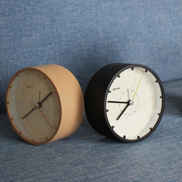 US $16.0 38% OFF|Brief Plastic Alarm Clock Children Bedroom Bedside Mini  Alarm Clocks Needle Mute Movement Quartz Horologe Table Clock Decoration-in  ...