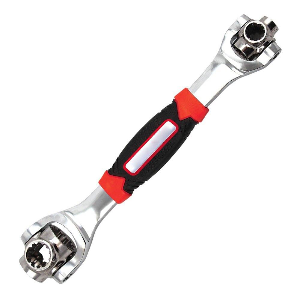 Llave de tigre 48 en 1, el enchufe de las herramientas funciona con tornillos de línea Torx 360 grados 6 puntos, llave Universal cuadrada de 12 puntos, Torx