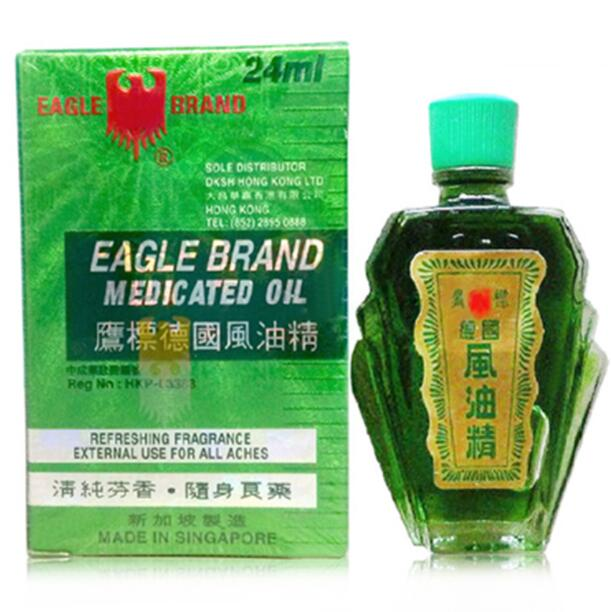 2pcs/lot High Quality Singapore Eagle Brand Medicated Oil Pain Relief 24ml/bottle Wholesale