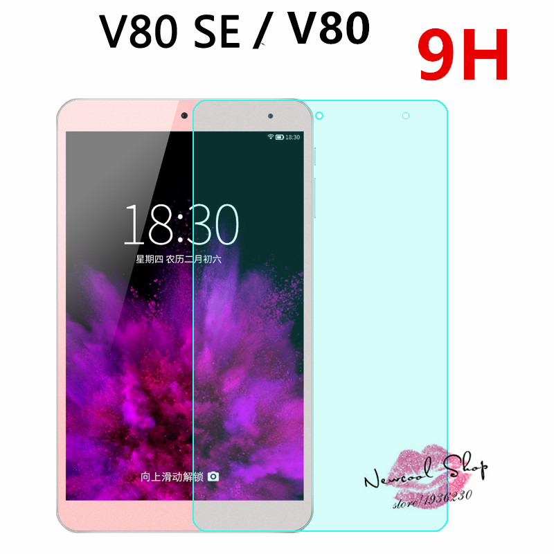 NEWCOOL 9H For Onda V80 SE Android 5.1 Tablet PC Tempered Glass Screen Protector Protective Film For Ond V80 Octa Core /V80 plus