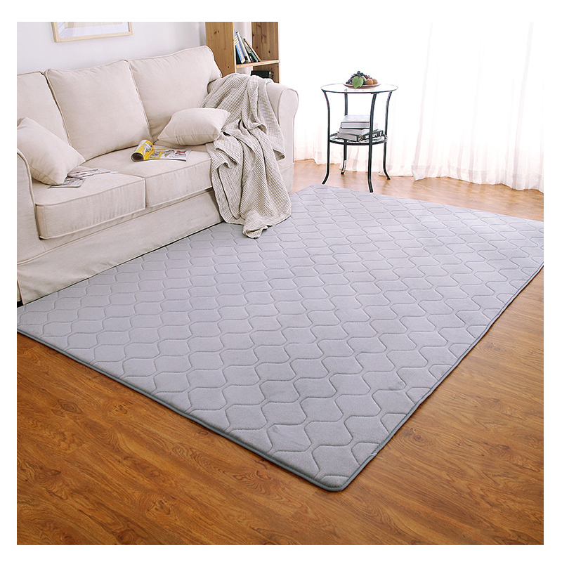 Modern Area Rug For Living Room Solid Polyester Carpet Kids Soft Rugs Bedroom Washable