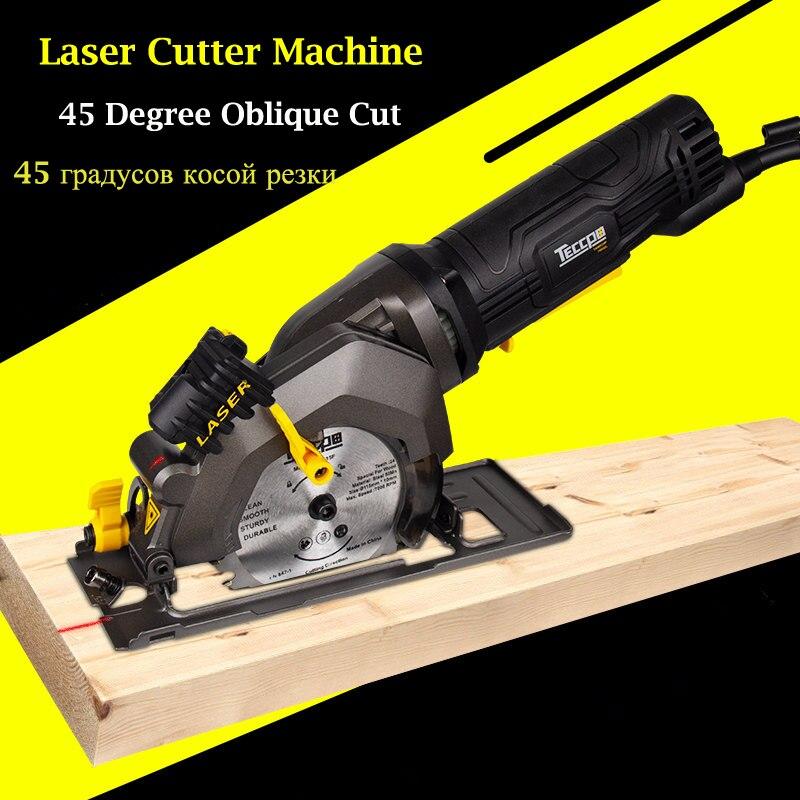 Scie circulaire électrique Multi fonction tenue dans la main tronçonneuse électrique Portable Flip puce Circula scie Mini Machine de découpe du bois