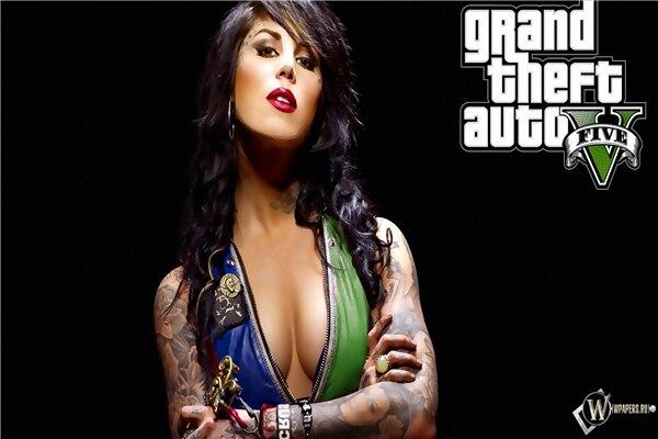 Grand Theft Auto Game Wallpaper Sexy Girl Gta 5 Sticker Custom