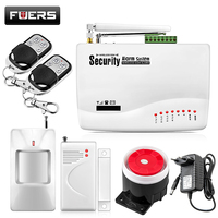 Fuers Wireless/Wired GSM Voice Home Security Burglar Android IOS Alarm System Auto Dialing Dialer SMS Call Remote Control Alarm