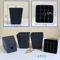 black plastic leg furniture cabinet stand couch feet PVC square 4""