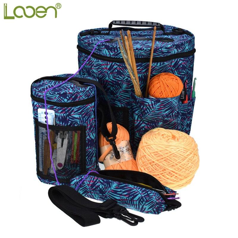 Looen Empty Yarn Storage Bag Yarn Organizer For All Crochet Knitting Accessory Crochet Tote Bag For Yarn Storage DIY Sewing Bag