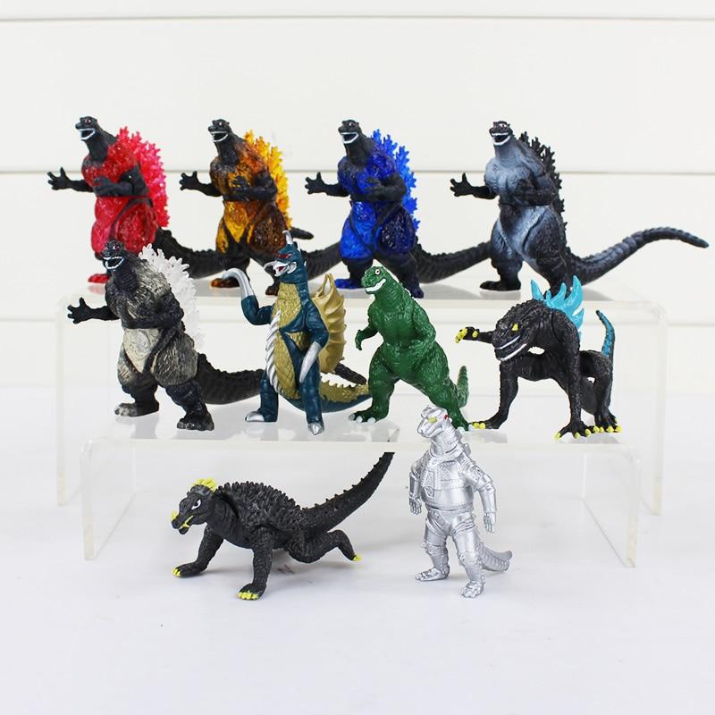⑦10 unids/set Godzilla figura juguete Muñecas PVC 8 cm envío libre ...