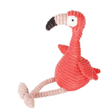 Striped Flamingo Doll Plush Toy Pillow Corduroy Animal Soft Cute Child Creative Gift