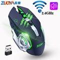 ZUOYA игровая беспроводная мышь 2000 точек/дюйм Регулируемая 2 4 ГГц Бесшумная Беспроводная перезаряжаемая мышь USB оптическая игровая мышь для П...