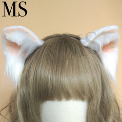 Lolita cosplay kostuum accessoires Mooie Kitty Kat neko Oren vos Haar Hoepel zwart wit hoofddeksels made in hand