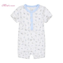 2019 Summer Baby Boy Romper Short Sleeve Cotton Infant Jumpsuit Cartoon Printed Baby Girl Rompers Newborn Baby Clothes 4 Color picturesque childhood 2018 hot sale 3 1 newborn baby girl footies cotton baby long sleeve cartoon duck printed baby romper