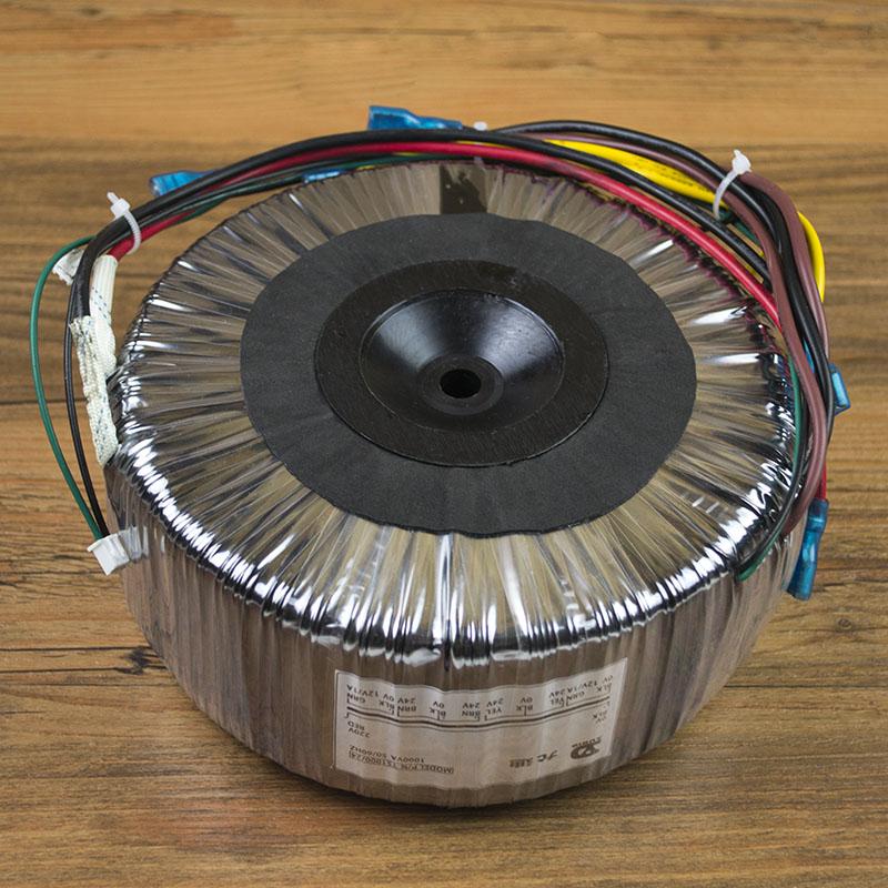 1000W Toroidal Transformer AC220V Output: 24V-0V-24V, 24V-0V-24V, 0V-12v (1A), 0V-12v (1A) High Power Power Supply output ac 0 6 3v 12v 24v 36v single phase control transformer 25va toroidal transformer