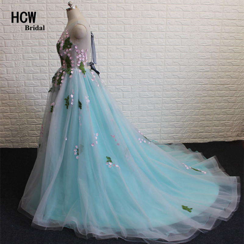 Colorful Puffy Prom Dresses 2018