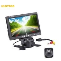 JCOTTON Waterproof Rear View Camera Monitor 7 Inch Car Parking Camera With Monitor 12V Mini TFT