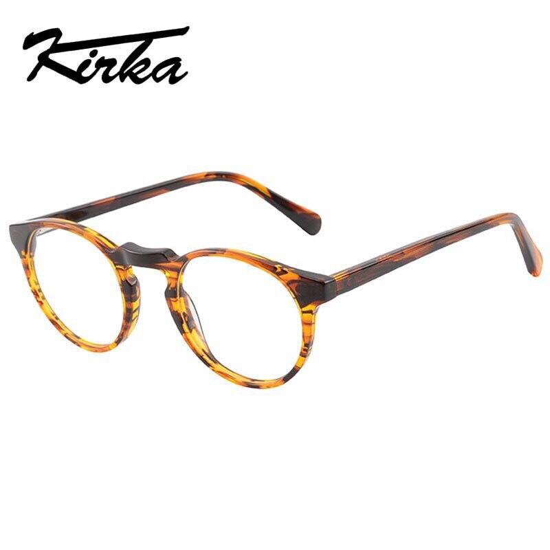 d34dd733d1 Kirka Frame Glasses Women Eyeglasses Frame Full Frame Round Retro Reading  Glasses Clear Lens Acetate Glasses
