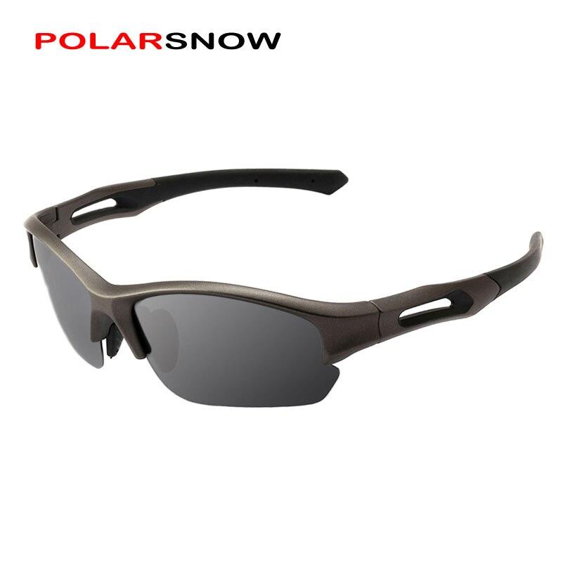 POLARSNOW Polarized Sunglasses Men TR90+Rubber Camo Frame Fishing Driving Sun Glasses Male Goggles UV400 Shade P8762