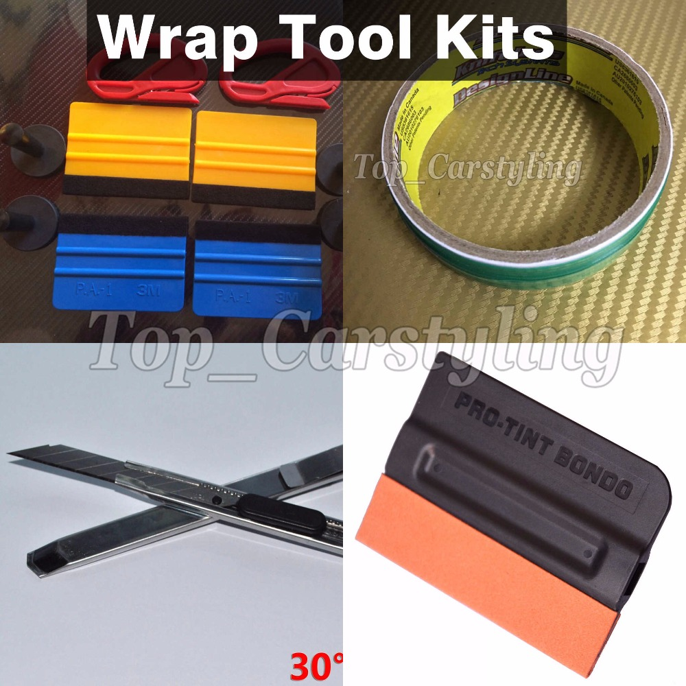 D'enveloppe de voiture Kits 4 PC support magnétique/4 PC Serre/1 PC Sans Outil Ruban/1 pièces couteau & 1 pièces gants Pro Outils D'installation