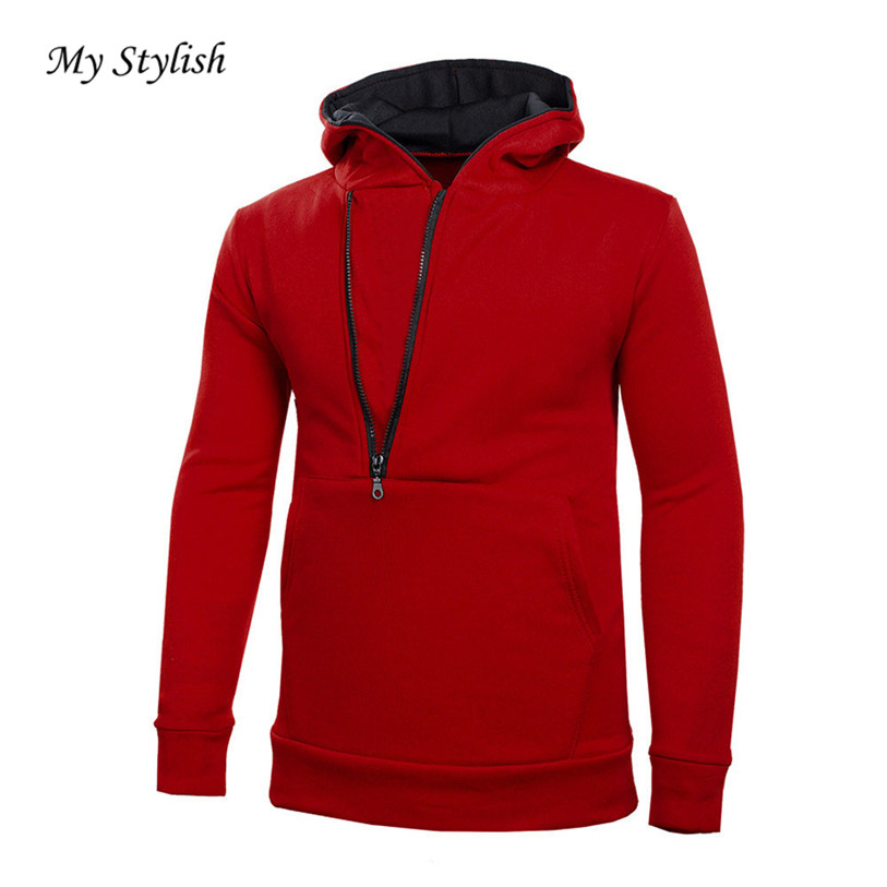 8799f0f0443 Mens  Long Sleeve Hoodie Hooded Sweatshirt Tops Jacket Coat Casual Outwear  Autumn Winter Plus Size Stylish Male Clothing Nov 28-in Hoodies    Sweatshirts ...