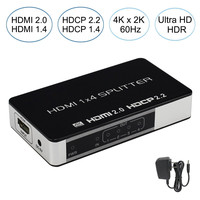 2019 4K 60Hz 1x2 1x4 1X8 HDMI 2.0 Splitter 1 Input 2/4/8 Ouput HDCP 2.2 HDMI Splitter Amplifier Switch Box For Apple TV PS4 HDTV