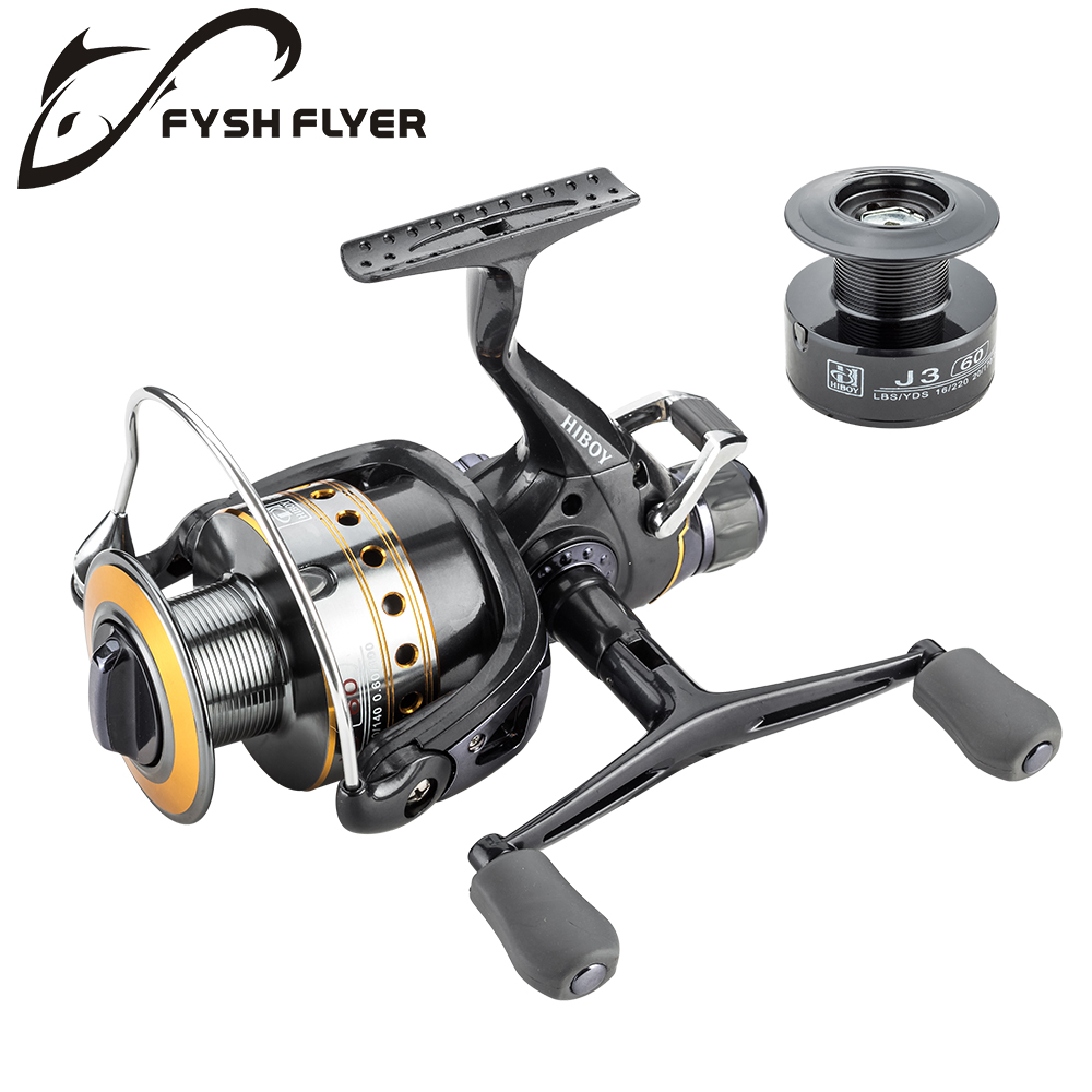 Fishing Reel Carp Spinning Reel J3FR Carbon Front and Rear Drags 18KG Drag 9+1 BB Metal Spool Double / Wooden Handles Available