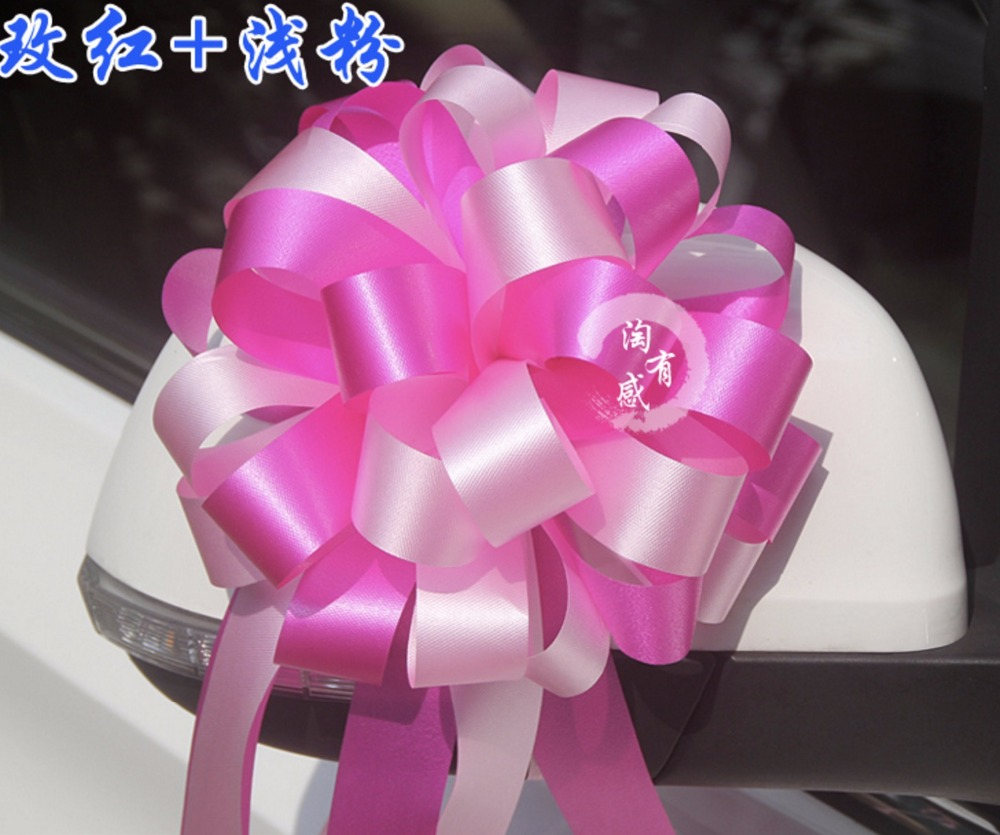 Beautiful two tone 3x110cm large pull bow ribbon flowers for gift beautiful two tone 3x110cm large pull bow ribbon flowers for gift wrap packaging party wedding car decoration 20pcslot in party diy decorations from home izmirmasajfo