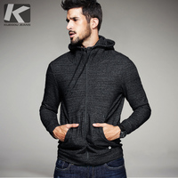 2017 Spring Mens Casual Hoodies Black Gray Zipper Pocket Brand Clothing For Man S Slim Fit
