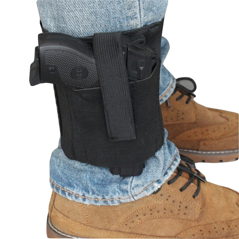 Universal Ankle Holster With Retention Hook&Loop Strap Concealed Pistol Carry Case Elastic Secure Strap Revolvor Concealment
