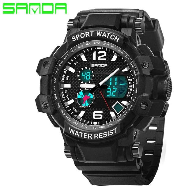 2017 New SANDA Men's Watch Men Waterproof Sports Digital Watches S-Shock Men's Analog Quartz-Watches Reloj Hombre Relogio