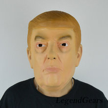 Free Shipping! 2016New Arrival!!! Warm Donald Trump Billionnaire Latex Realistic Funny Cospaly Props Latex Mask For Halloween