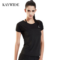Kaywide 2017 Summer Harajuku Casual T Shirt Women Slim Fitness Patchwork Elastic Sporting Tops Shirt Loose