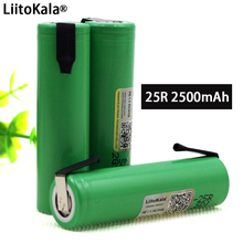 Liitokala New Original 18650 2500mAh battery INR1865025R 3.6V discharge 20A dedicated Power + DIY Nickel sheet