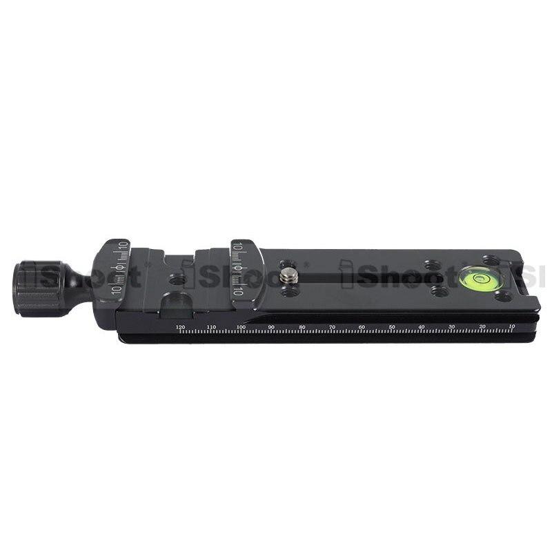 140 x 39 mm iShoot caméra Macro longues plateau rapide avec pince pour RRS arca - swiss KIRK Wimberley BENRO SIRUI trépied Ballheads