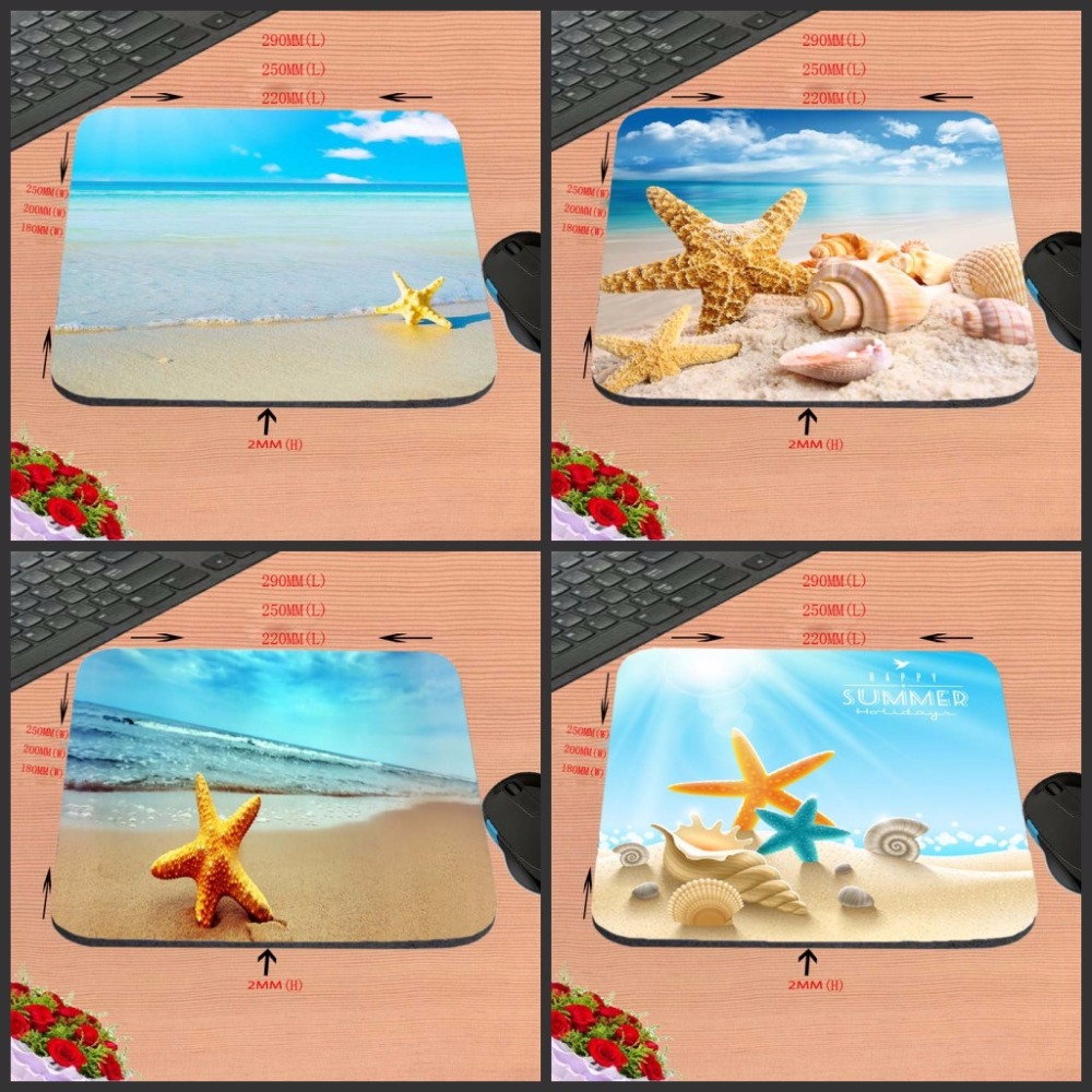 Seashells On The Beach New Arrival Top Print 18*22cm/25*20*cm/25*29cm Rubber Mouse Pad Computer Gaming Mouse Pad Gamer Play Mats