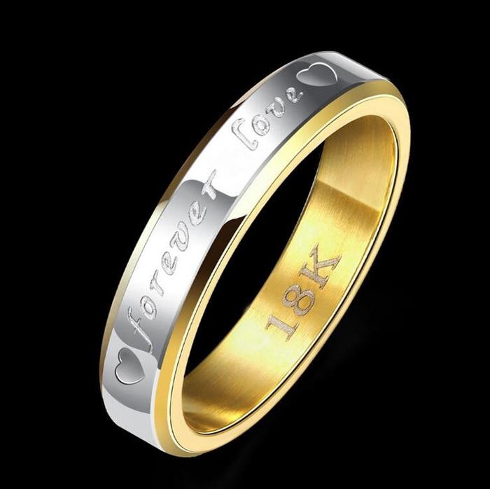 STORT 90% RABATT! Classic Forever Love Solid Gold Ring Engagement - Märkessmycken - Foto 3