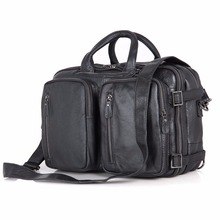 цена на JMD New Classic Applied Style Real Leather Men Black Casual Briefcases Hand Laptop Bag Backpack Travel Bags Free Shipping #7041A