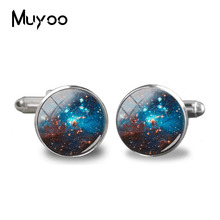 2018 New Nebula Space Cufflinks Orion Universe Gifts For Men Art Photo Cuffs Charming Nebula Galaxy Glass Cufflink Jewelry