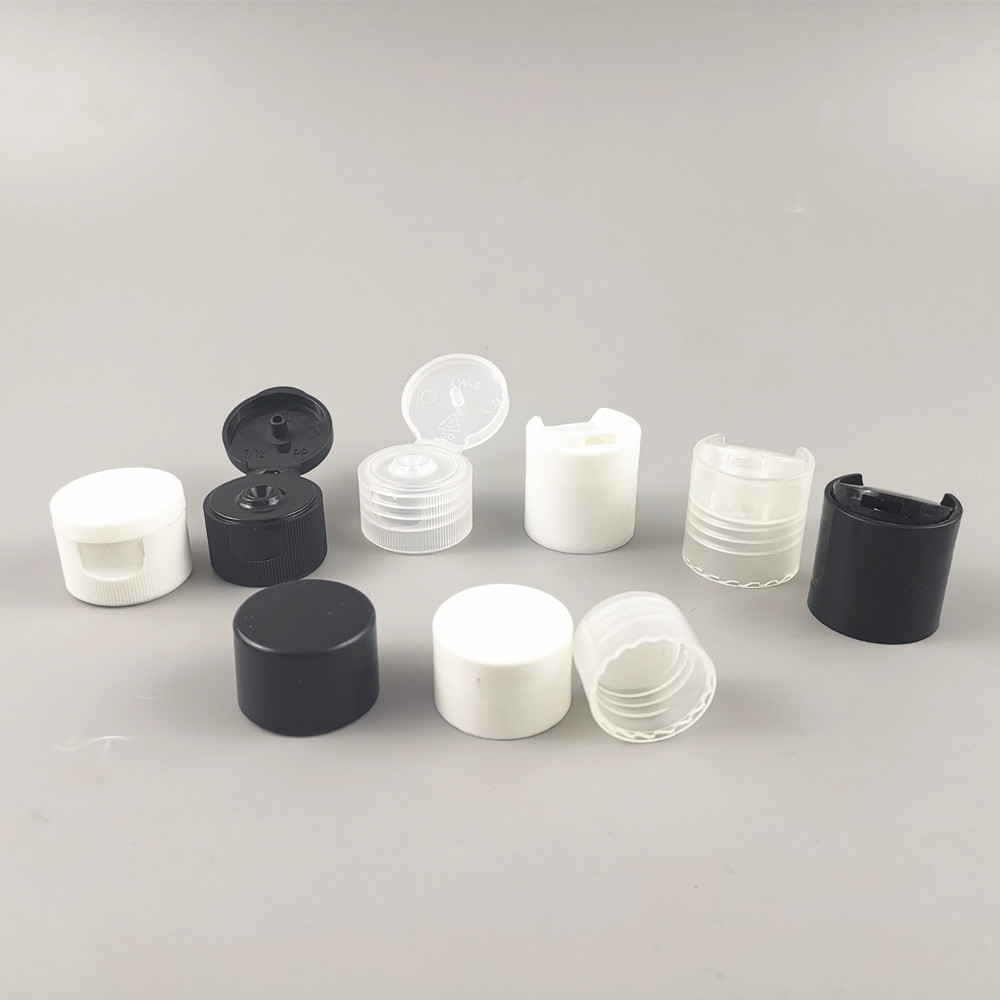 Wholesale 100 X 20MM 24MM White Black Clear Dispensing Cap Disc Snap Top Screw Neck Cap Only  Use For 20/410 24/410