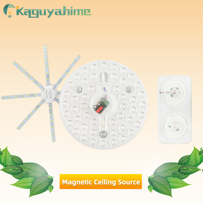 Kaguyahime LED Ceiling Lamp 220V Octopus Light 24W 20W 18W 16W 12W Round Panel Lamp LED Light Board Magnetic Modified Source