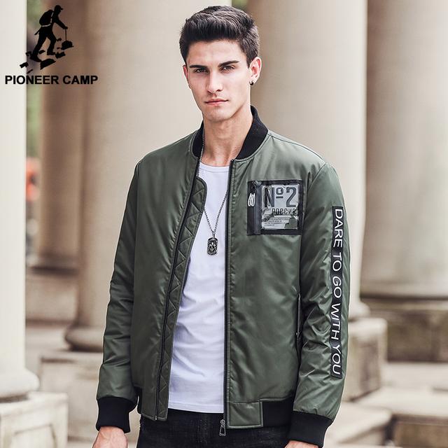 Pioneer camp 2017 novo exército verde para baixo casaco de roupas masculinas da marca grossa 90% de pato branco para baixo homens jaqueta de qualidade masculino parkas 611616