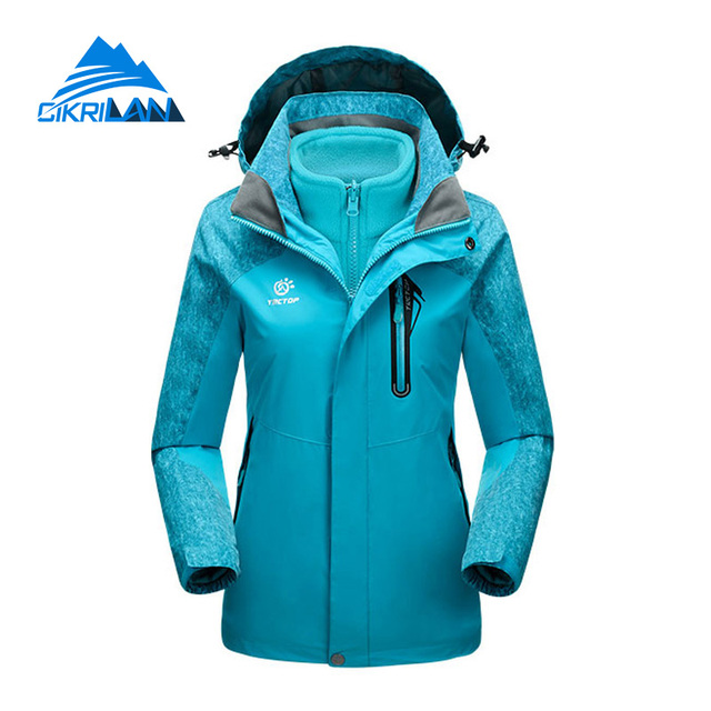 b3833b64e Hot Sale Outdoor Hiking 2in1 Ski Jacket Women Winter Windstopper Water  Resistant Coat With Fleece Inner Camping Chaquetas Mujer