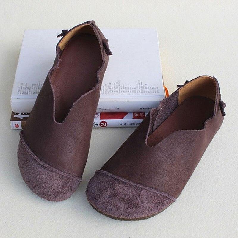 Zapatos de mujer deslizamiento plano en mocasines 100% cuero genuino bailarina Mujer Zapatos verano calzado (FY831)-in Zapatos planos de mujer from zapatos on AliExpress - 11.11_Double 11_Singles' Day 1