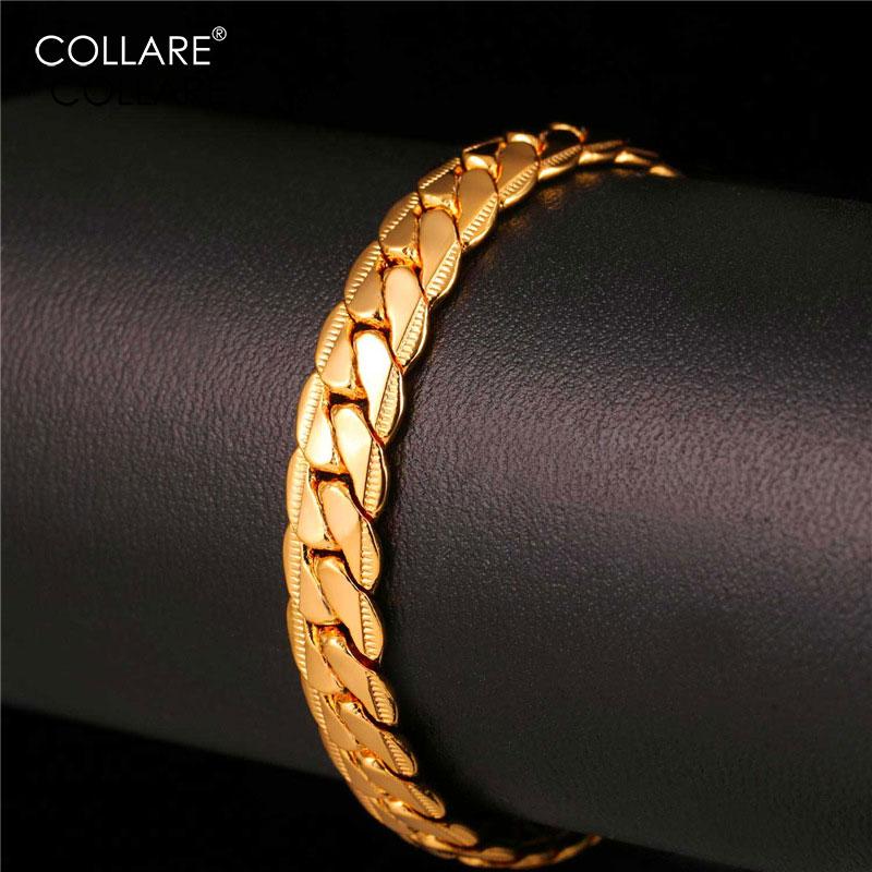 Collare Snake Link Chain Bracelet Men Black Gun/Rose Gold/Gold Color Chain Wholesale Bracelets & Bangles Men Jewelry H160