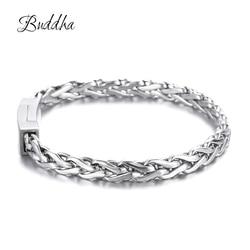 Charms Accessory Women Bangle Brazalet High Quality Stainless Steel Mens Buddha Bracelets Jewelry Wristbands Band ZTB423-1