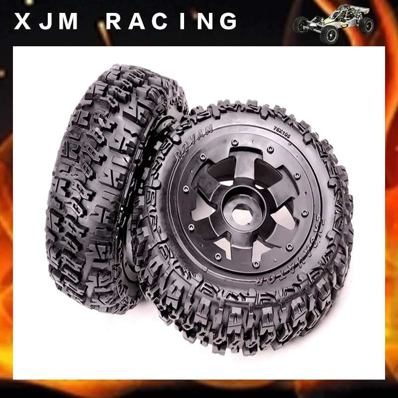 1/5 rc car parts, Front knobby/wasteland wheel tire (x 2pcs/set) for 1/5 scale hpi rovan baja 5t/5sc baja front new  knobby tire set 85078