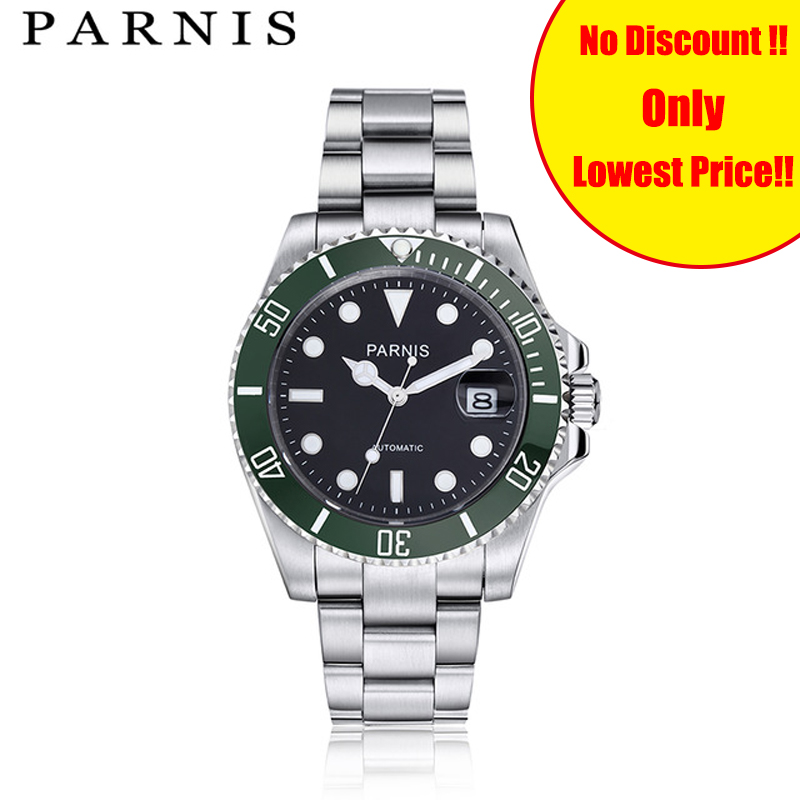 Parnis Automatic Watch Men Fashion stainless steel Water Resistant Mens WristWatch Top Brand Carnaval Sport montre homme 2018Parnis Automatic Watch Men Fashion stainless steel Water Resistant Mens WristWatch Top Brand Carnaval Sport montre homme 2018