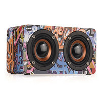 M5 Portable Wireless Dual Wooden Sound Box Bass FM Radio Outdoor Stereo Speaker Bluetooth